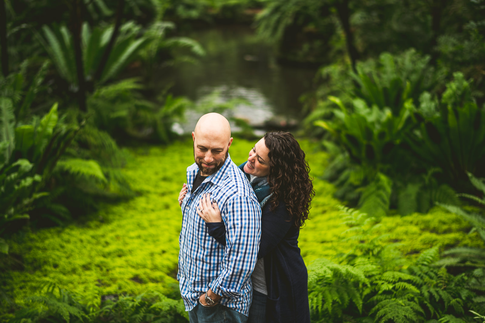 Jen + Bob // Garfield Park Conservatory Engagement Photos