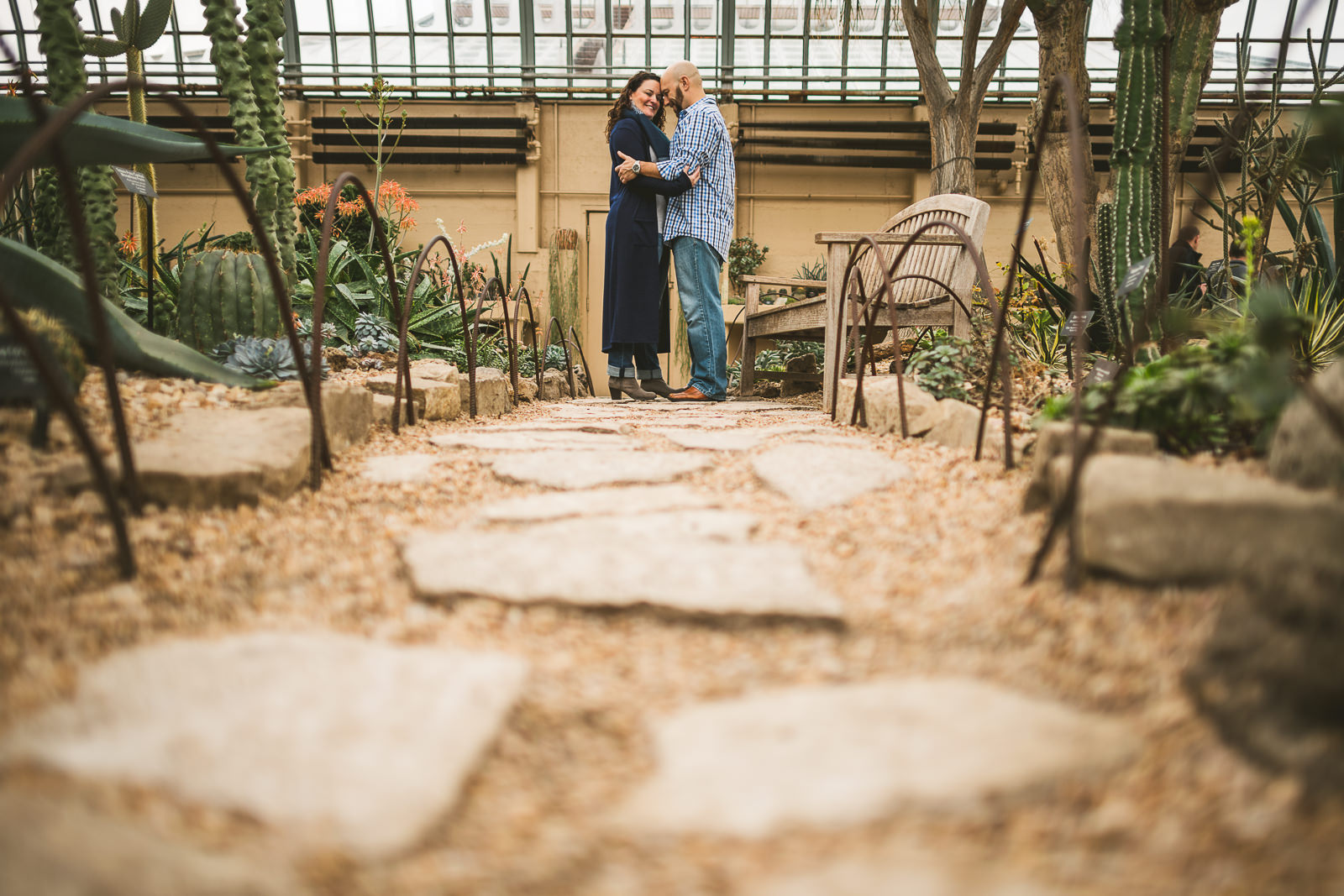 15 garfield park conservatory engagement session photos