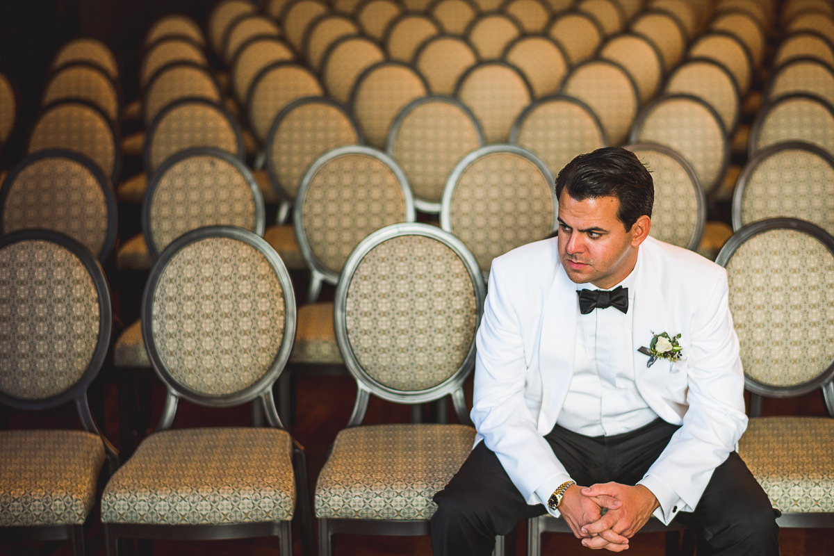 23 groom waiting at wedding - Chicago Wedding Photography at Chicago Athletic Association // Alicia + Spencer