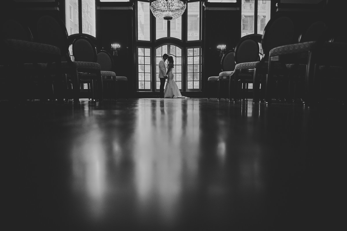 27 black and white chicago wedding - Chicago Wedding Photography at Chicago Athletic Association // Alicia + Spencer