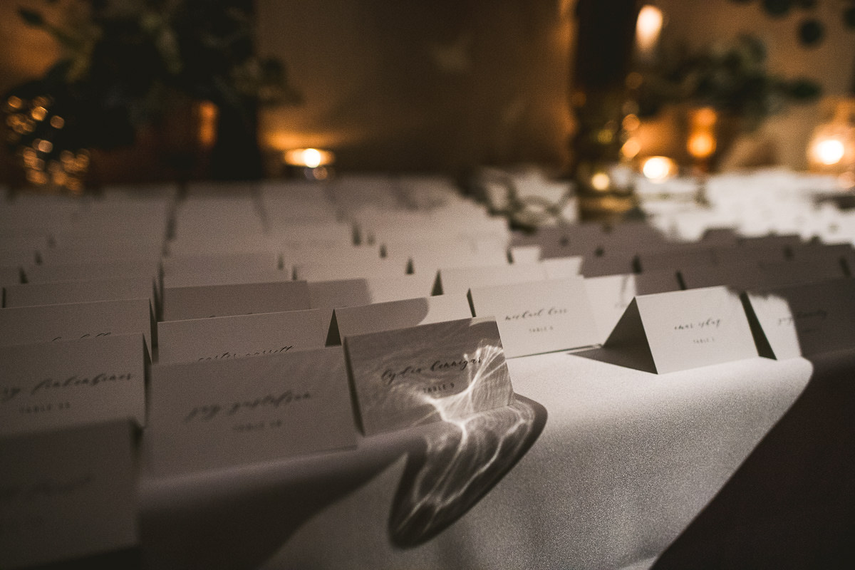 47 placecards - Chicago Wedding Photography at Chicago Athletic Association // Alicia + Spencer