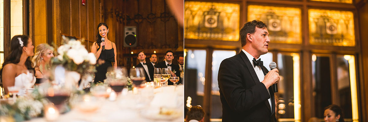 59 chicago wedding speeches - Chicago Wedding Photography at Chicago Athletic Association // Alicia + Spencer
