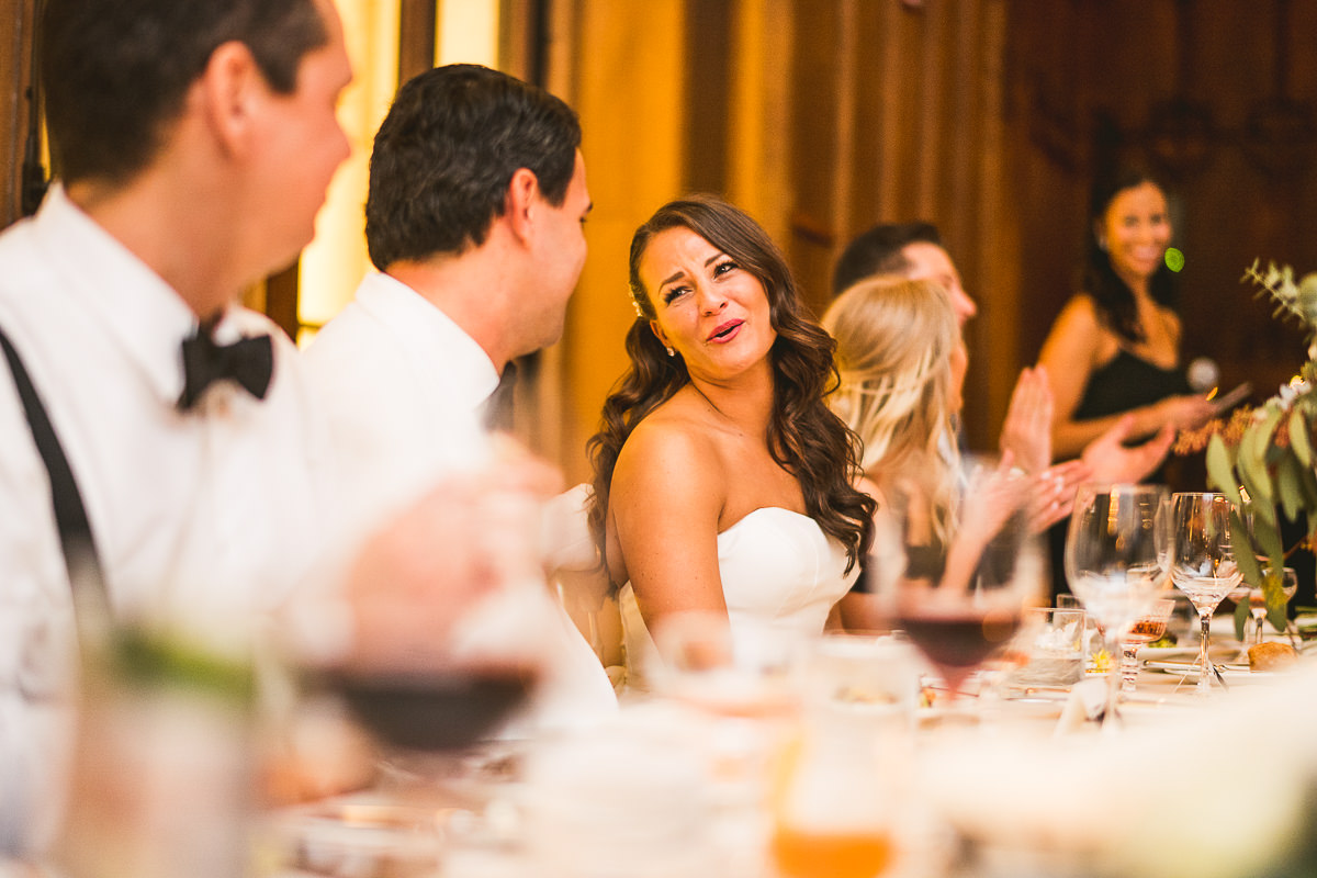 60 bride at her table - Chicago Wedding Photography at Chicago Athletic Association // Alicia + Spencer