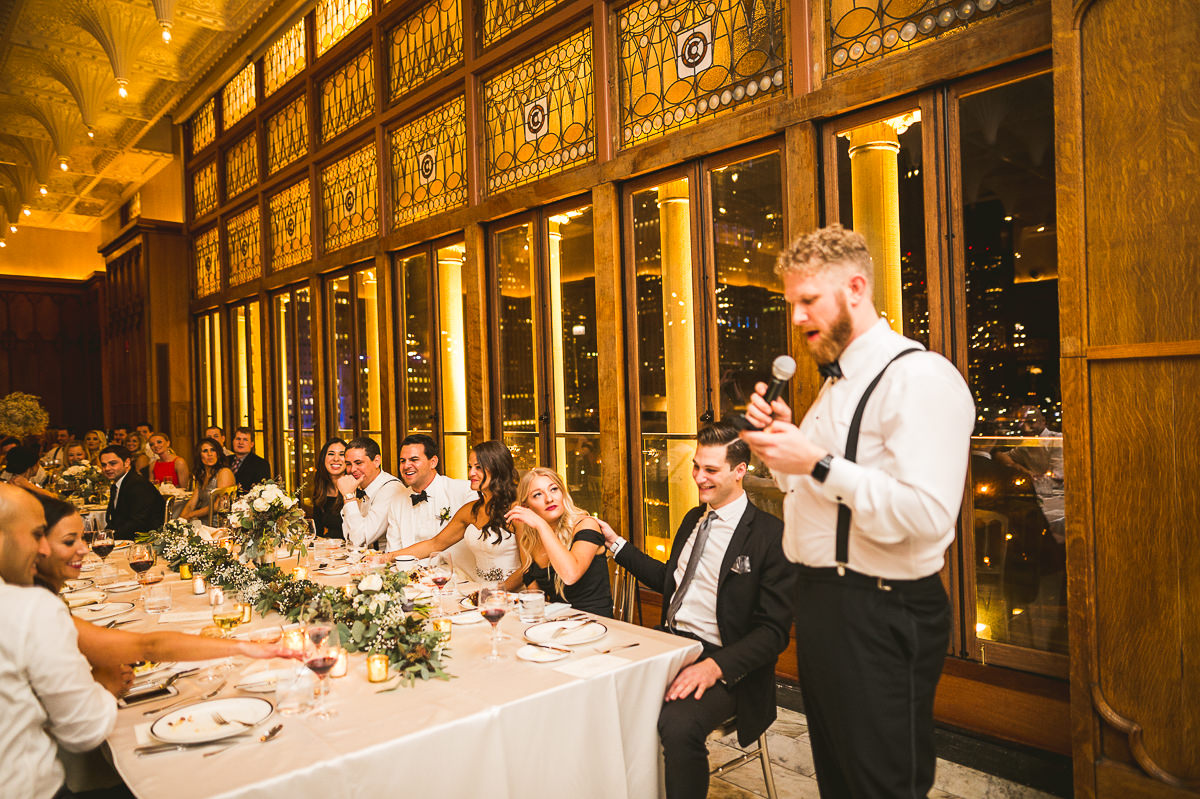 61 best man speech at chicago wedding photos - Chicago Wedding Photography at Chicago Athletic Association // Alicia + Spencer