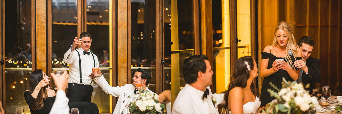 62 best man and maid speech at chicago wedding - Chicago Wedding Photography at Chicago Athletic Association // Alicia + Spencer