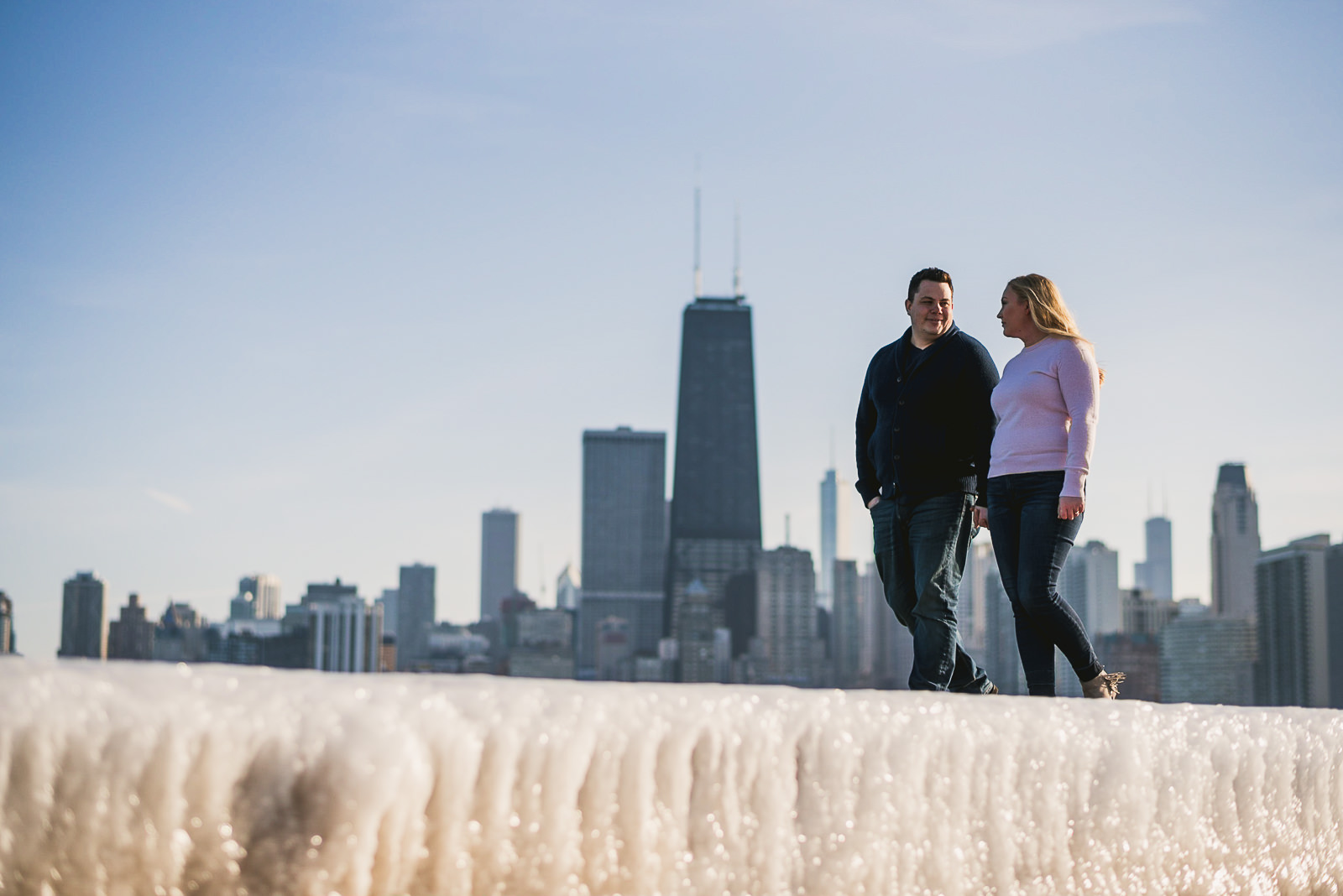 03 chicago wedding photographer - Stephanie + Rhett // Downtown Chicago Engagement Session