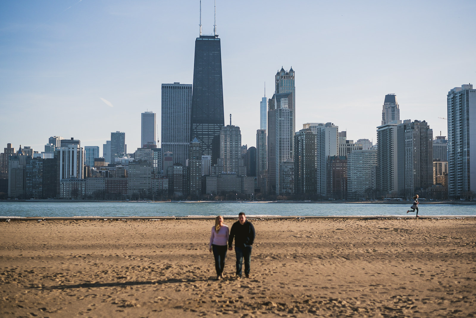 07 chicago skyline photos - Stephanie + Rhett // Downtown Chicago Engagement Session