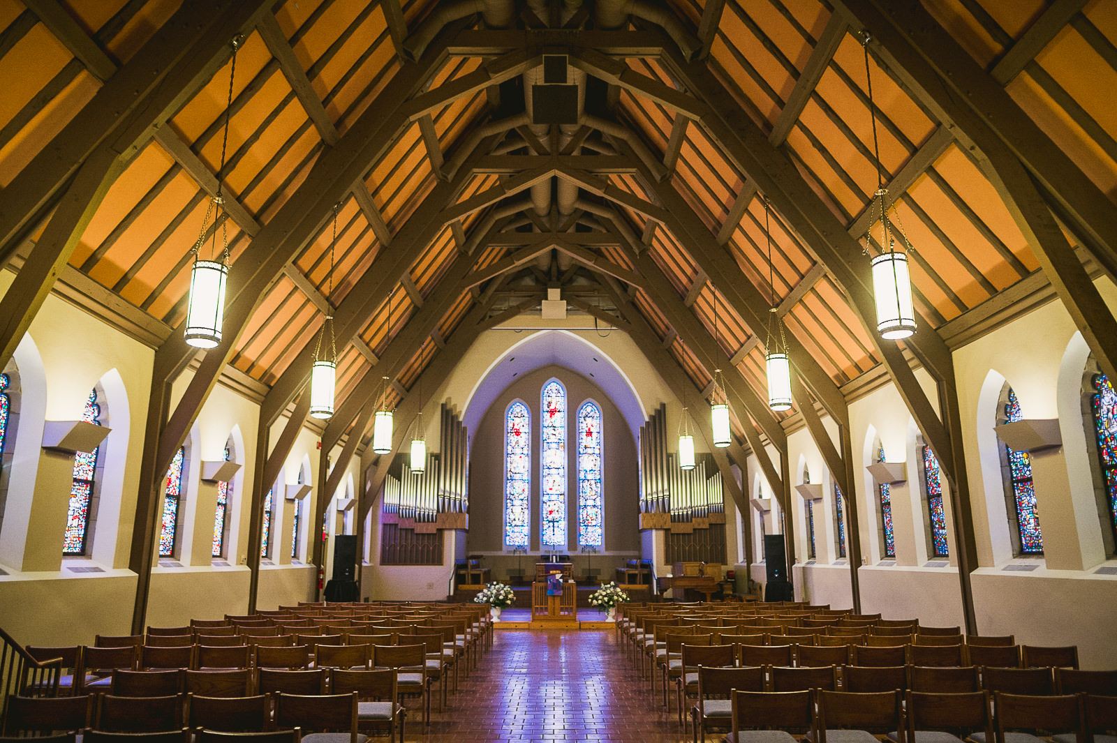 05 chapel at Garrett Evangelical Theological Seminary - Rebecca + Doha // Wedding Photos at Room 1520 Chicago