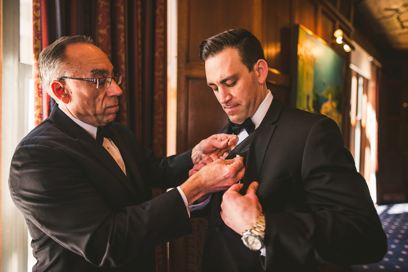 05 groom and dad - Kayla + Terry // Drake Hotel Chicago Wedding Photos