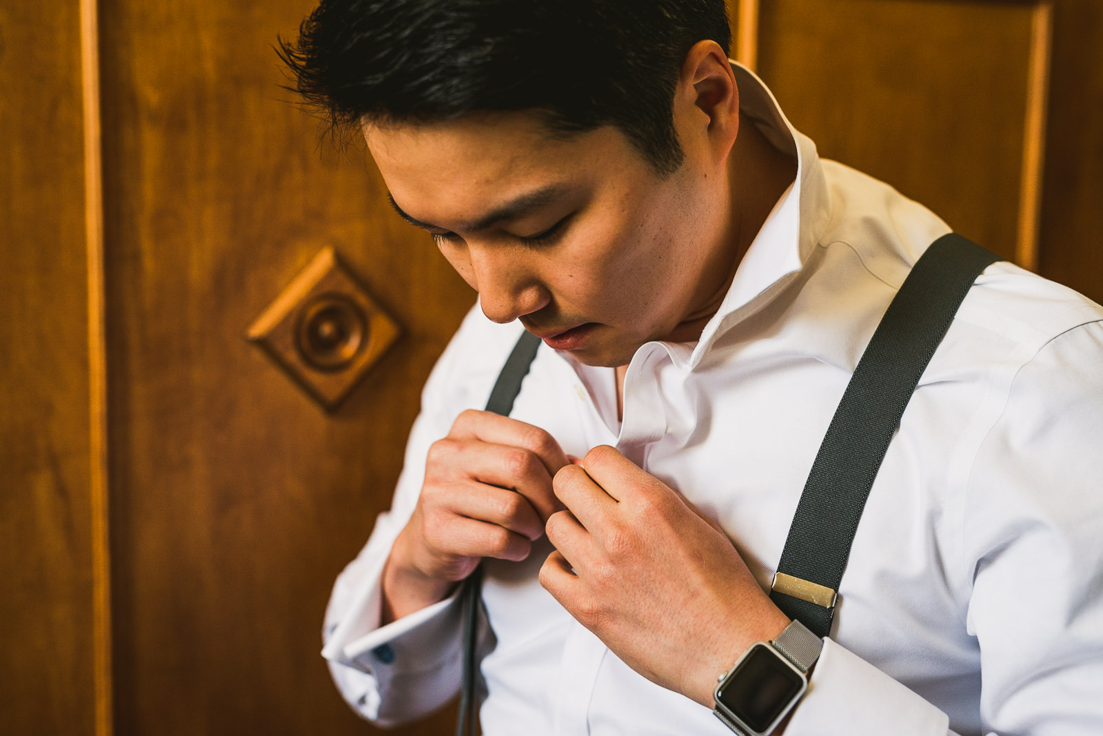 06 groom details at wedding - Rebecca + Doha // Wedding Photos at Room 1520 Chicago