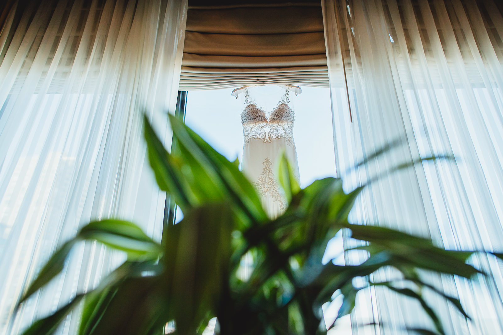 07 dress hanging at drake - Kayla + Terry // Drake Hotel Chicago Wedding Photos