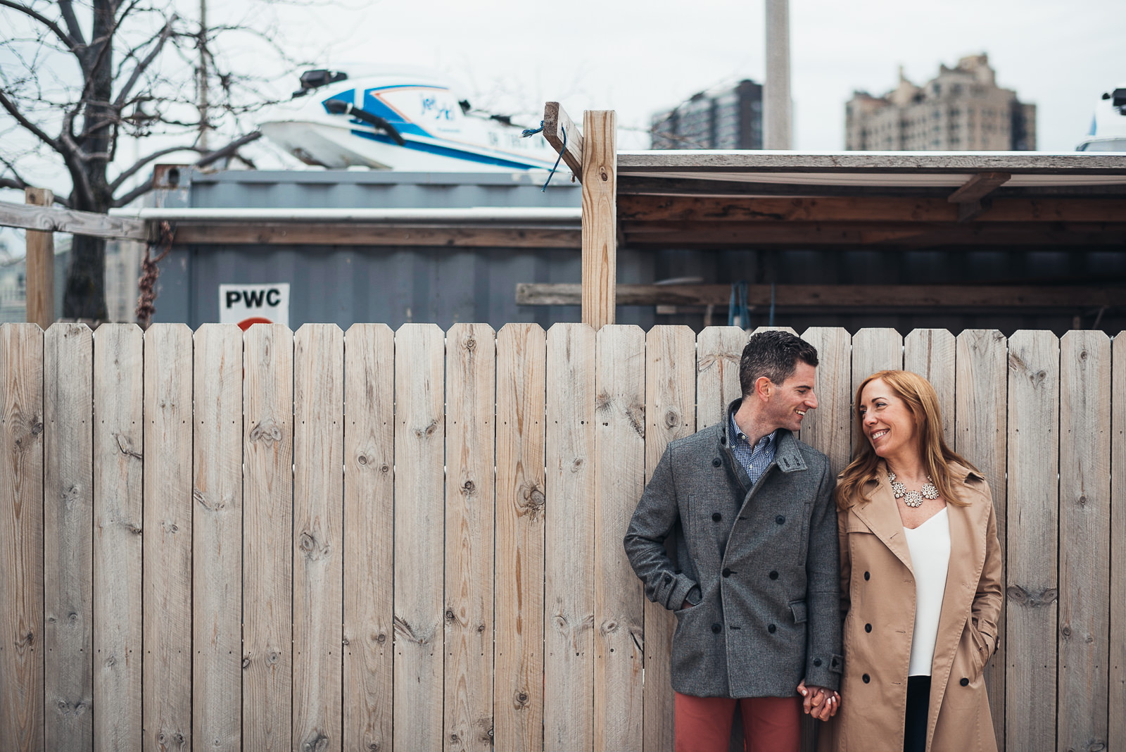 10 best engagement photographer in chicago - Megan + Bob // Chicago River North Engagement Session at Shaws Crab House