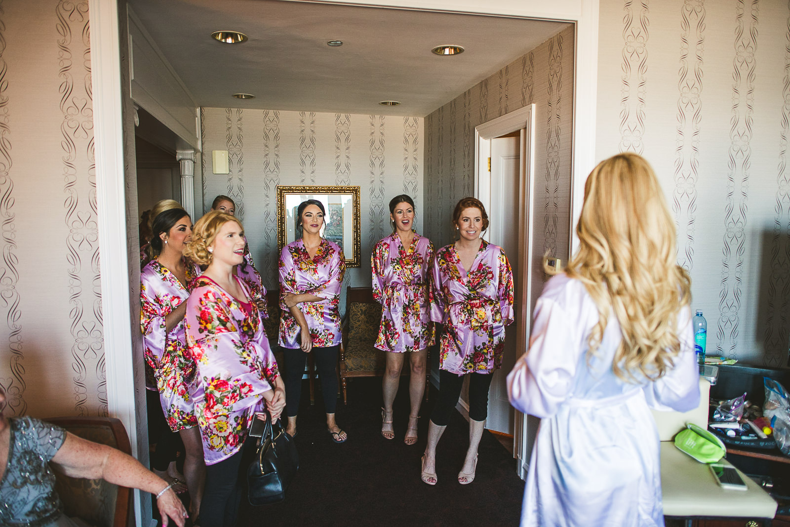 10 bridesmaids at drake hotel - Kayla + Terry // Drake Hotel Chicago Wedding Photos