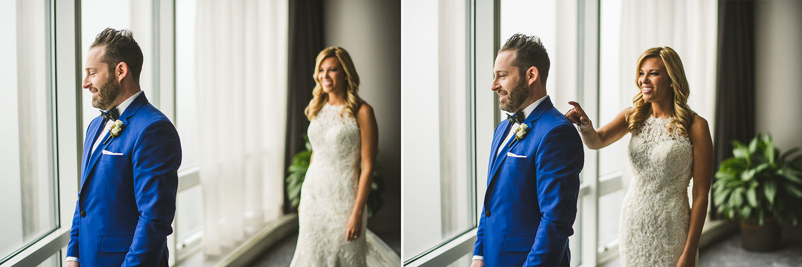 15 first look inspriation photos - Chicago Wedding Photography at Gallery 1028 // Courtnie + David