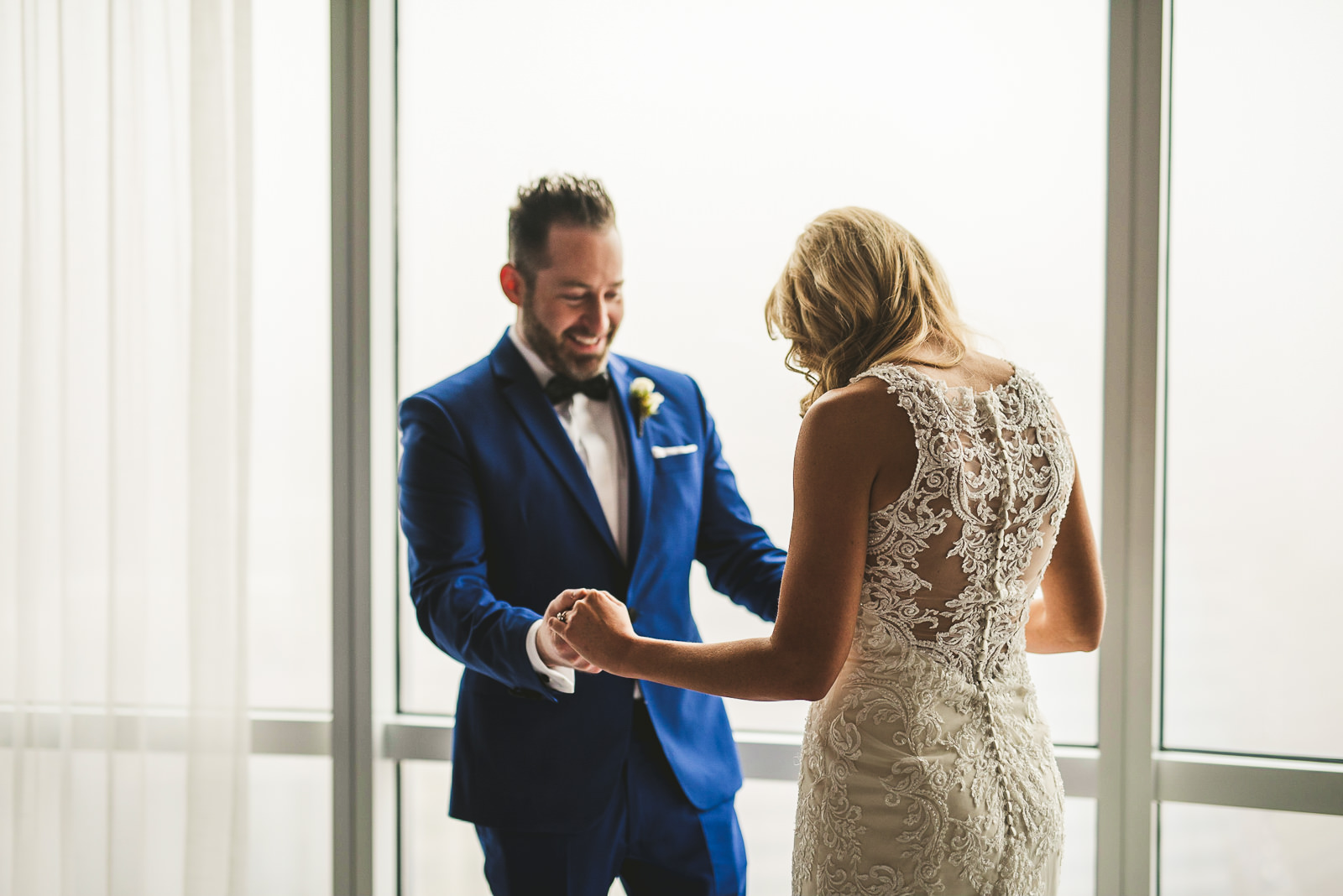 17 inspriation for first look at trump tower - Chicago Wedding Photography at Gallery 1028 // Courtnie + David