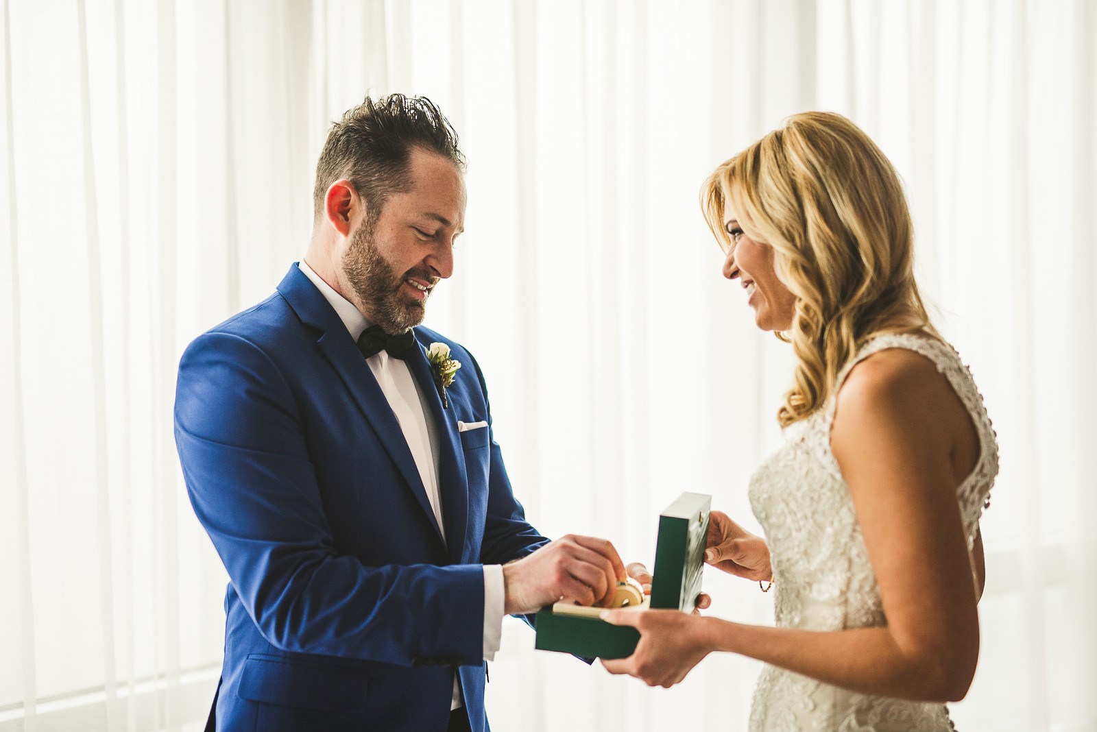 18 gift for groom on wedding day - Chicago Wedding Photography at Gallery 1028 // Courtnie + David