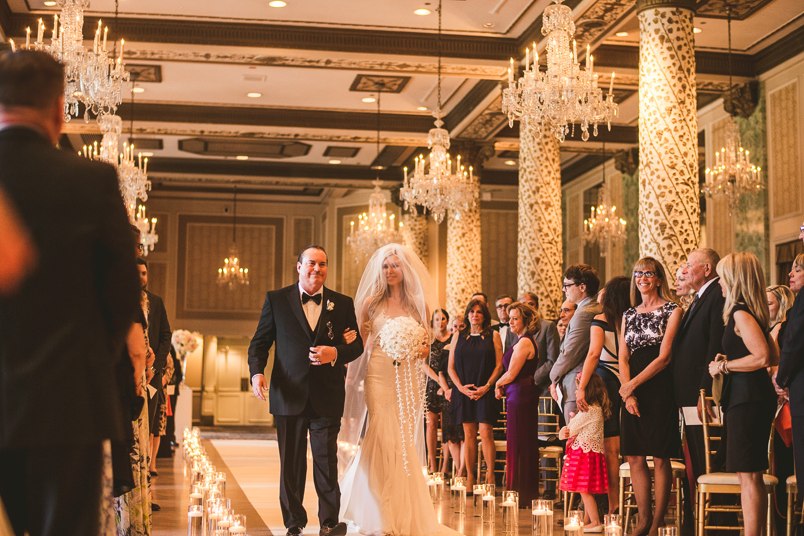 27 bride down the isle - Kayla + Terry // Drake Hotel Chicago Wedding Photos
