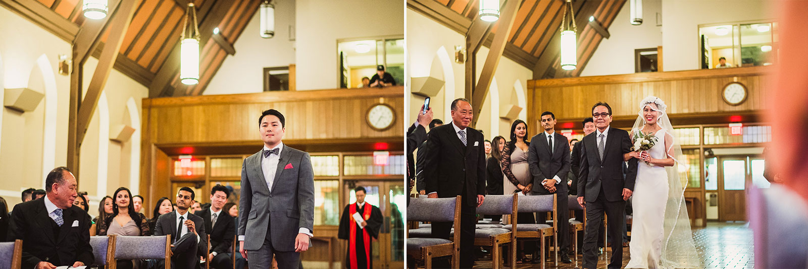 27 wedding photography at church - Rebecca + Doha // Wedding Photos at Room 1520 Chicago