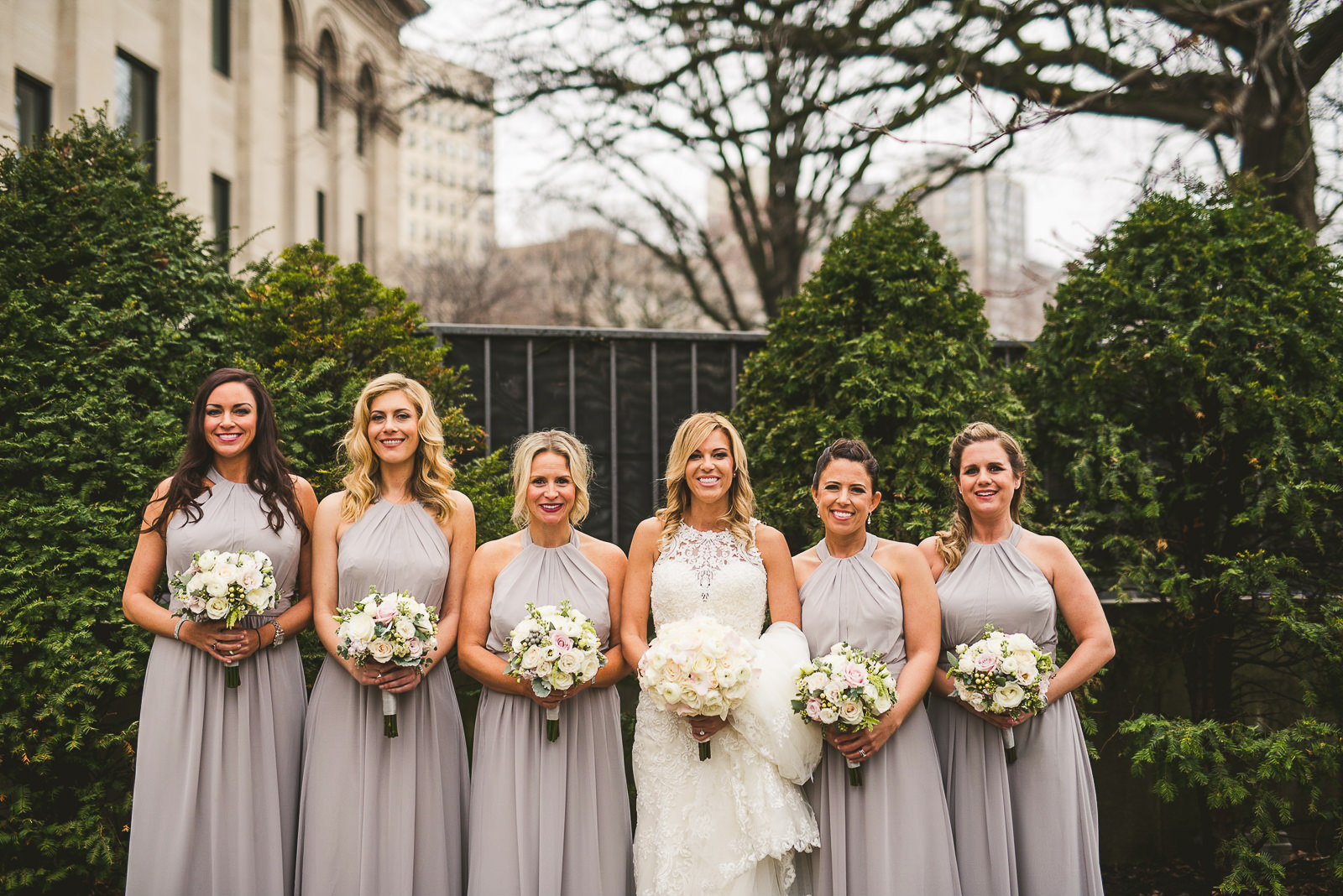 29 bridesmaids at wedding - Chicago Wedding Photography at Gallery 1028 // Courtnie + David