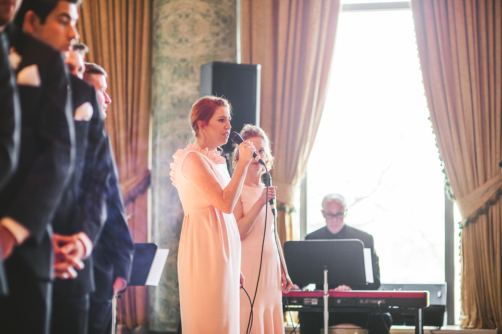 30 singers at wedding - Kayla + Terry // Drake Hotel Chicago Wedding Photos