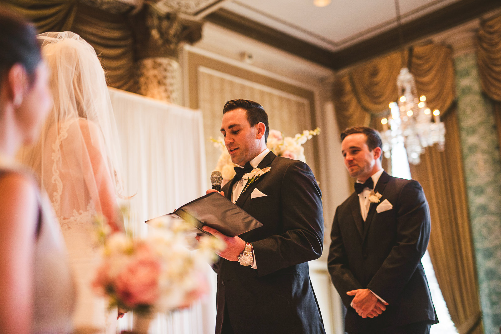 34 groom reading vows - Kayla + Terry // Drake Hotel Chicago Wedding Photos