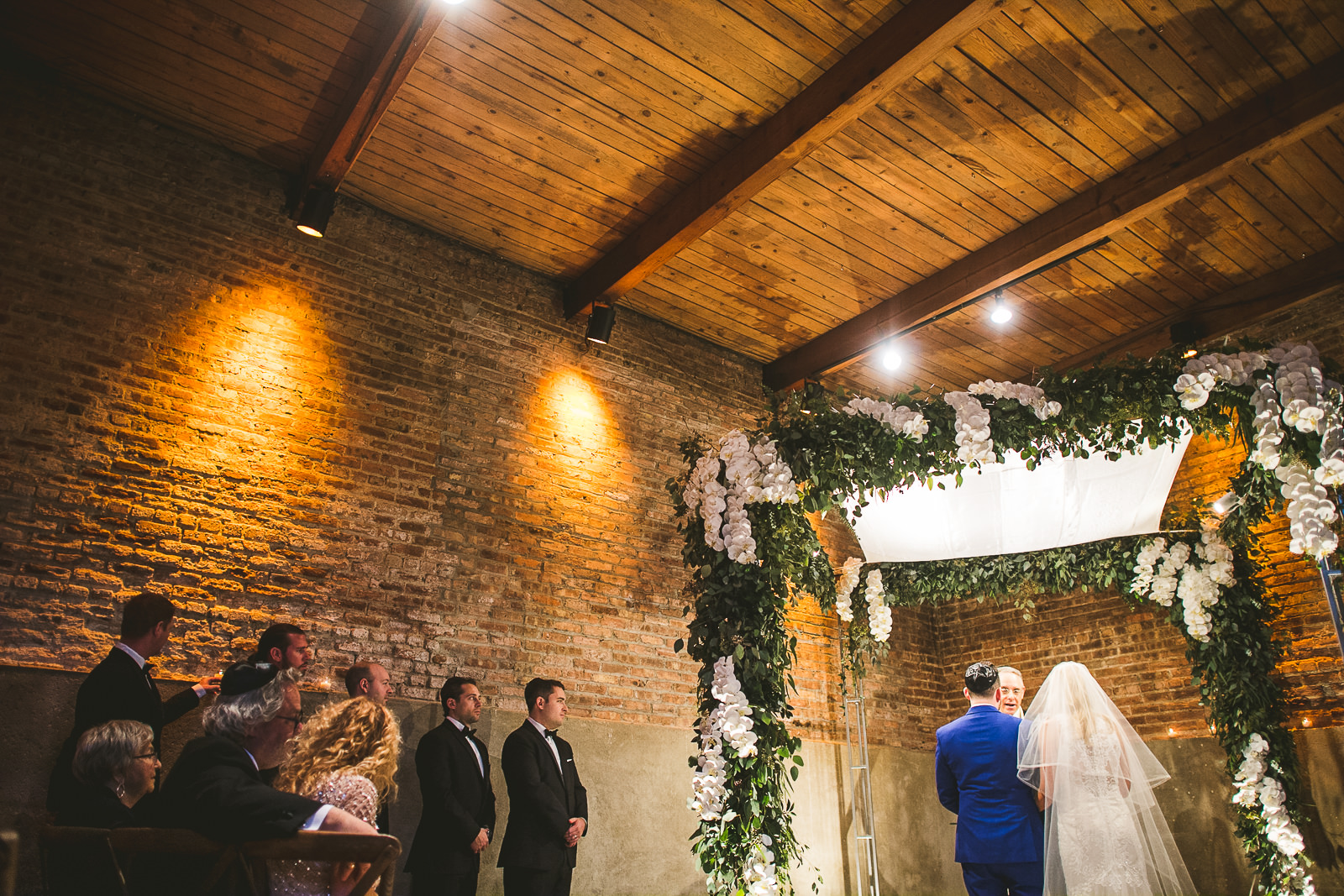 43 jewish wedding at gallery 1028 - Chicago Wedding Photography at Gallery 1028 // Courtnie + David