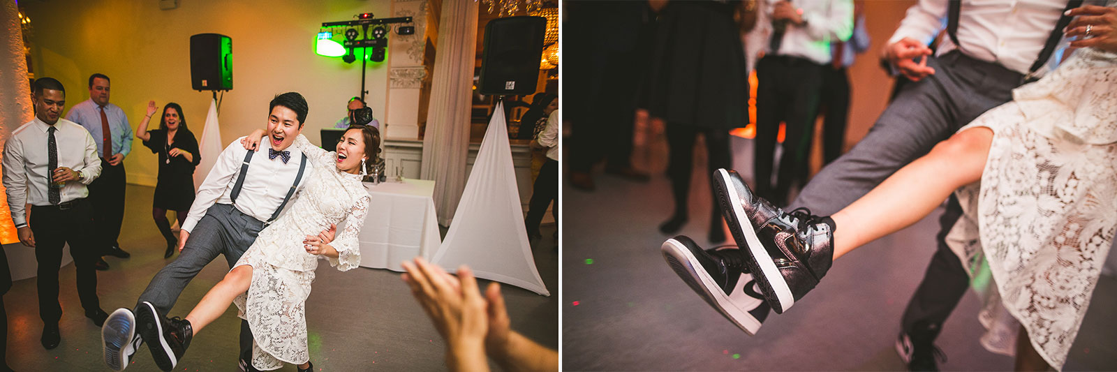 44 michael jordan shoes at room 1520 wedding - Rebecca + Doha // Wedding Photos at Room 1520 Chicago