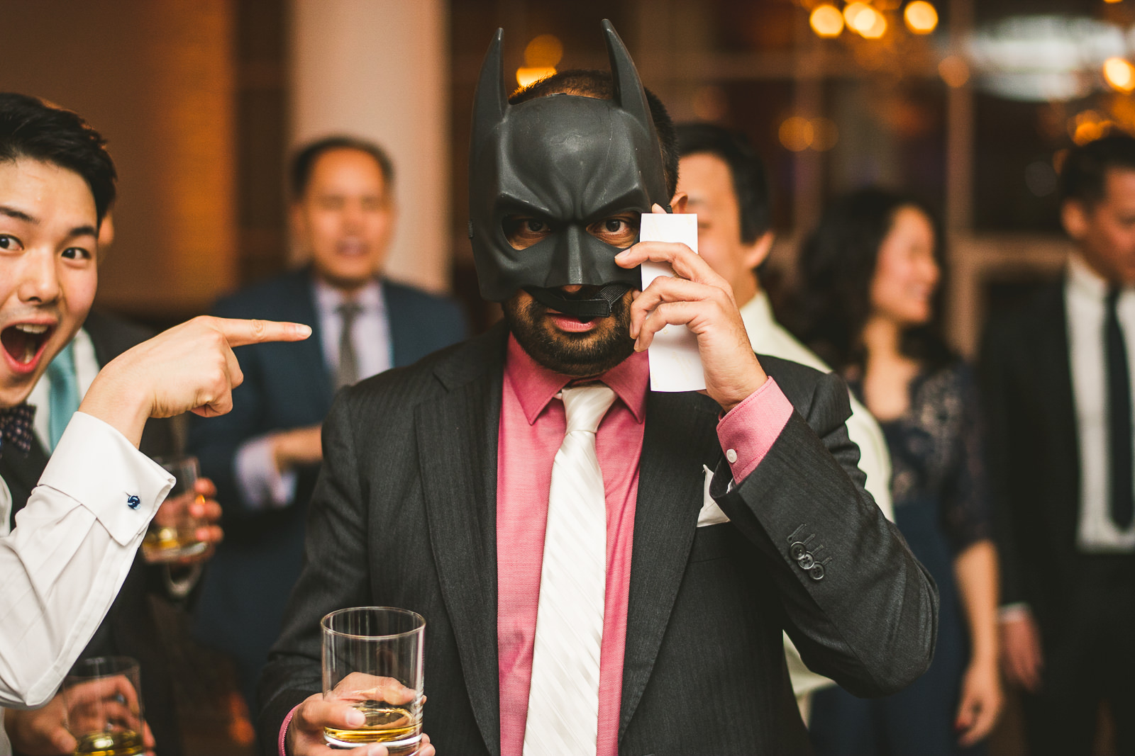 47 batman mask - Rebecca + Doha // Wedding Photos at Room 1520 Chicago