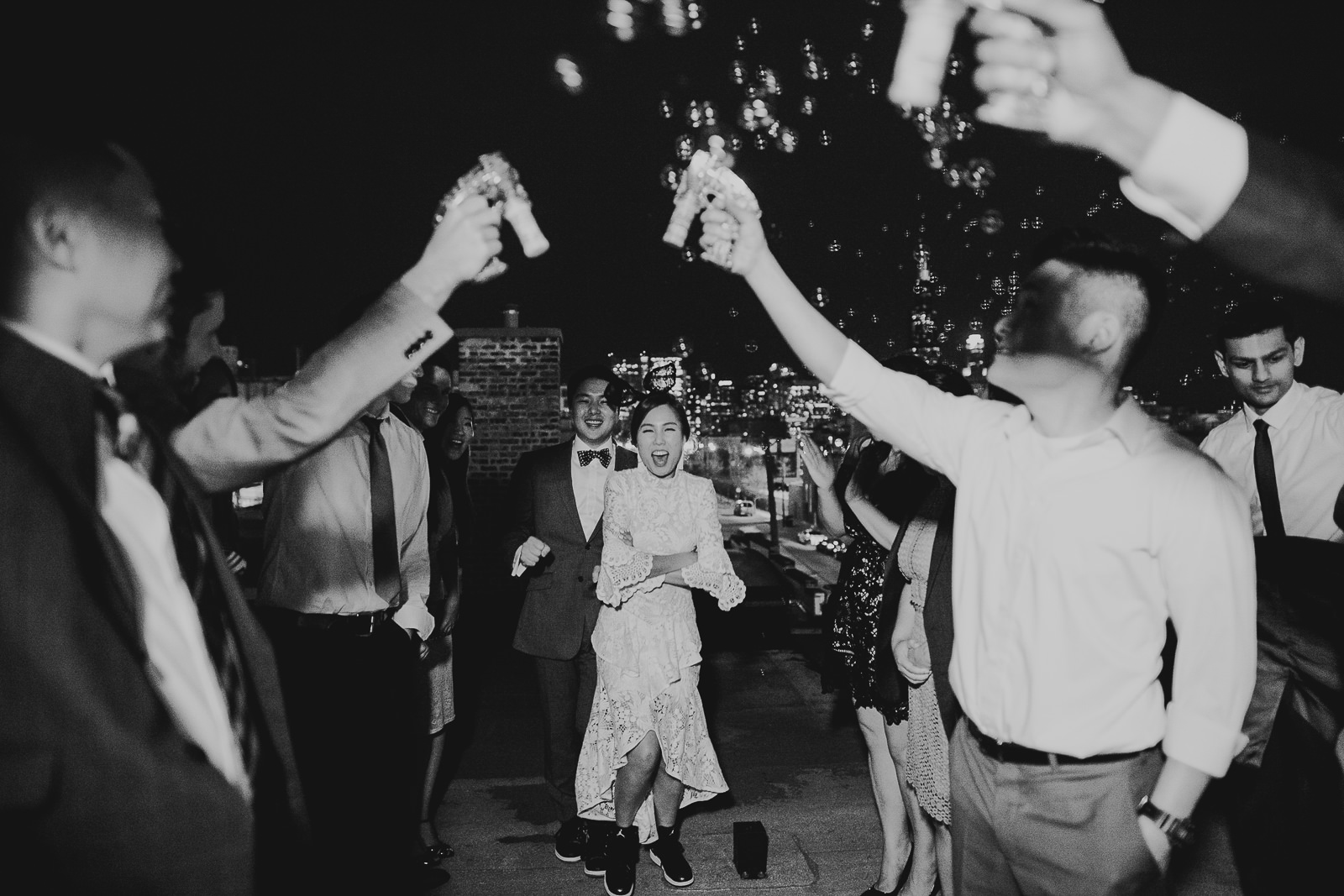 52 black and white wedding photos - Rebecca + Doha // Wedding Photos at Room 1520 Chicago