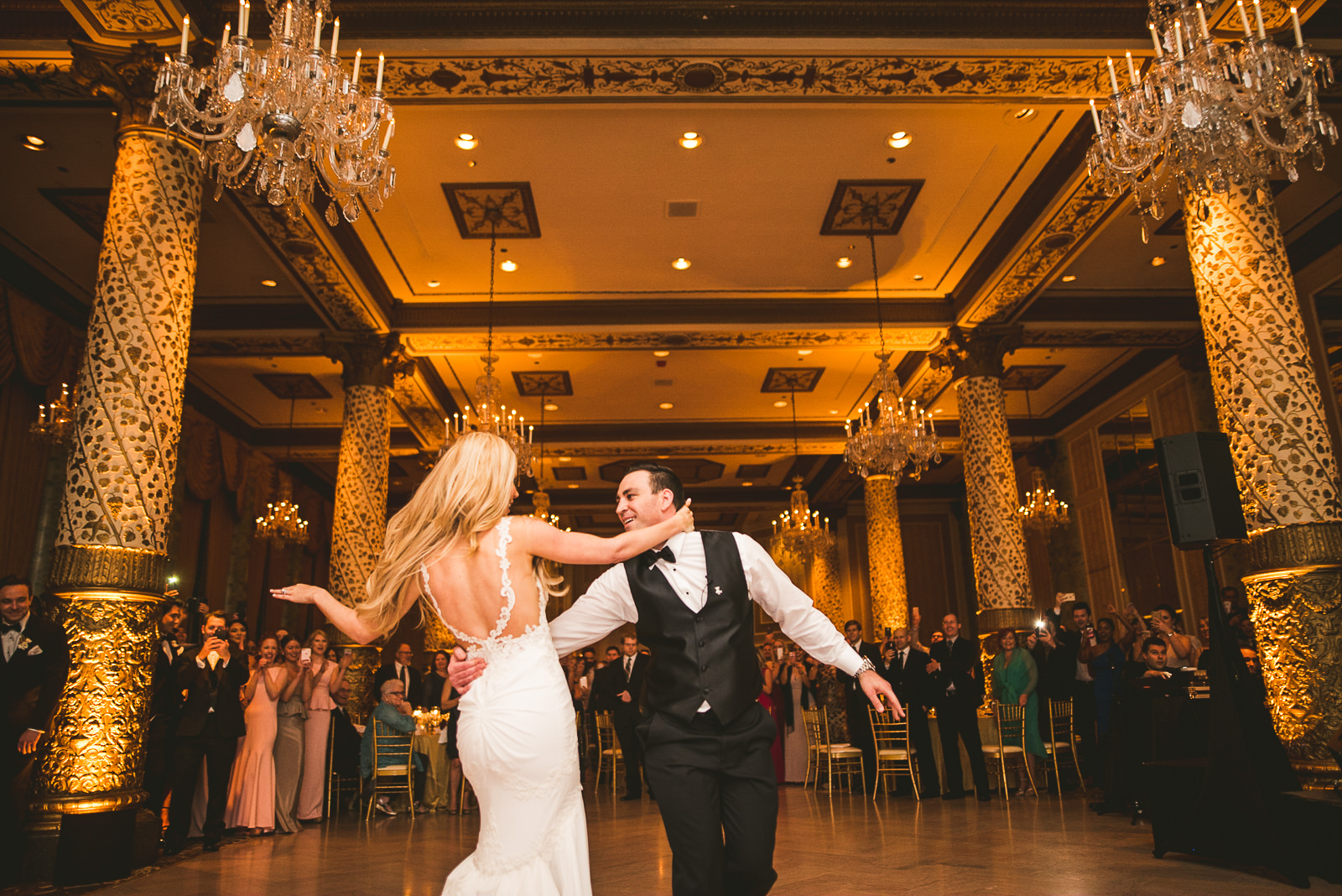54 first dance at the drake - Kayla + Terry // Drake Hotel Chicago Wedding Photos