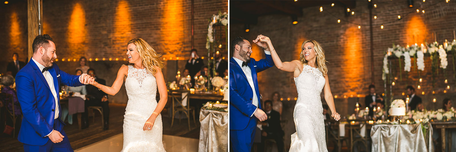 58 bride and groom first dance photos - Chicago Wedding Photography at Gallery 1028 // Courtnie + David