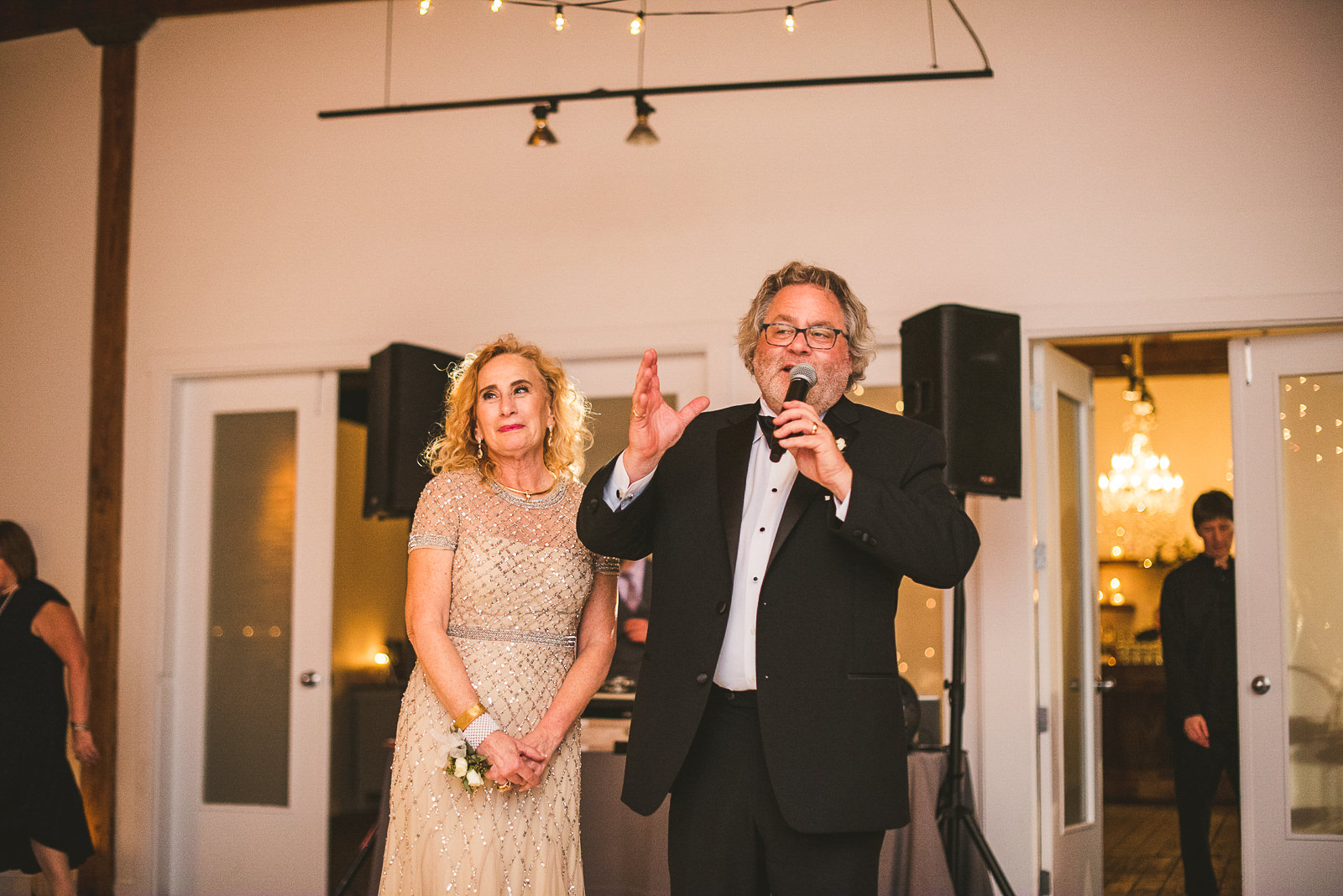 67 speeches at wedding - Chicago Wedding Photography at Gallery 1028 // Courtnie + David