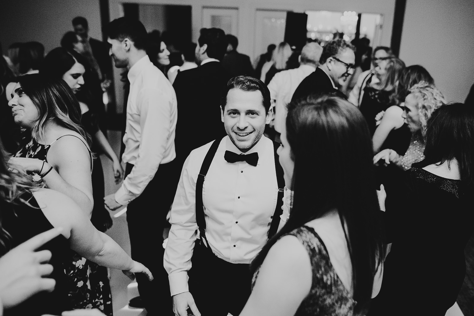 74 black and white - Chicago Wedding Photography at Gallery 1028 // Courtnie + David