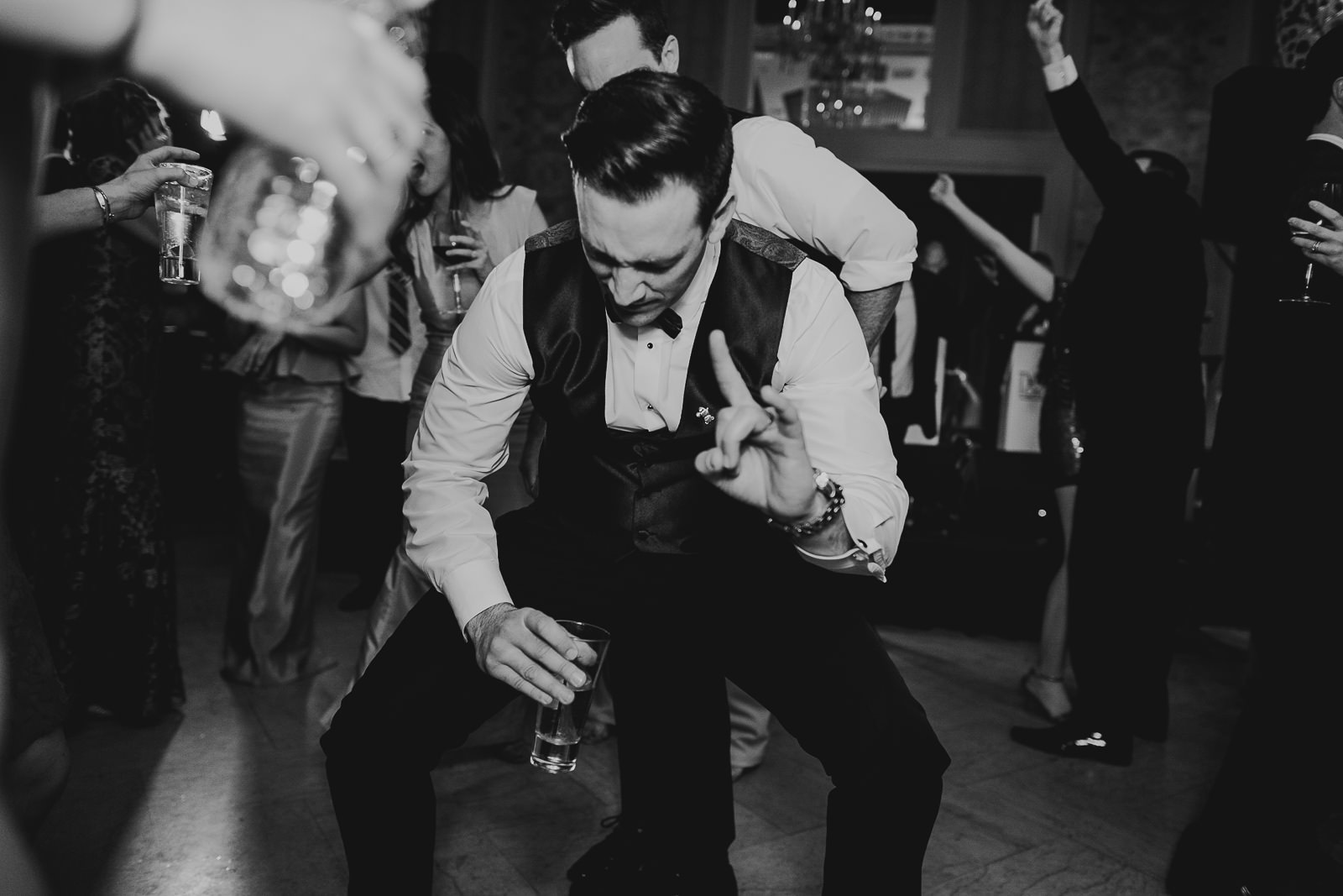 75 black and white dancing - Kayla + Terry // Drake Hotel Chicago Wedding Photos