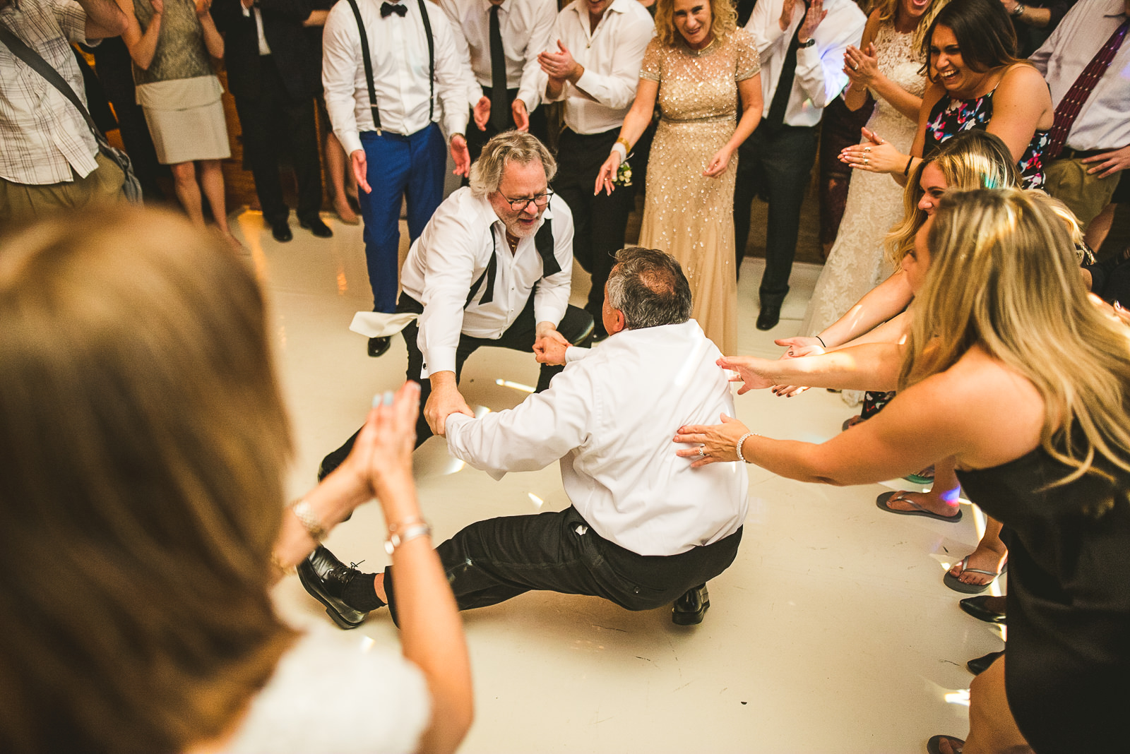 87 dads dancing at wedding - Chicago Wedding Photography at Gallery 1028 // Courtnie + David