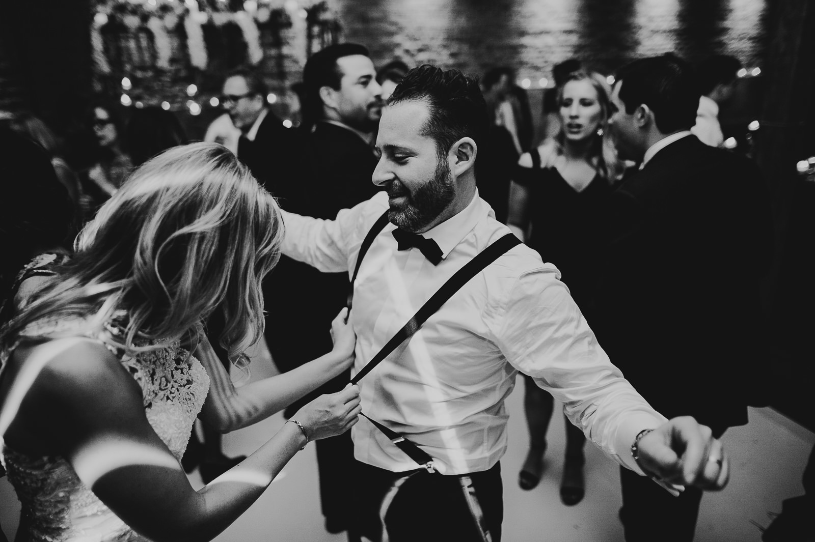 89 bride and groom dancing at wedding - Chicago Wedding Photography at Gallery 1028 // Courtnie + David