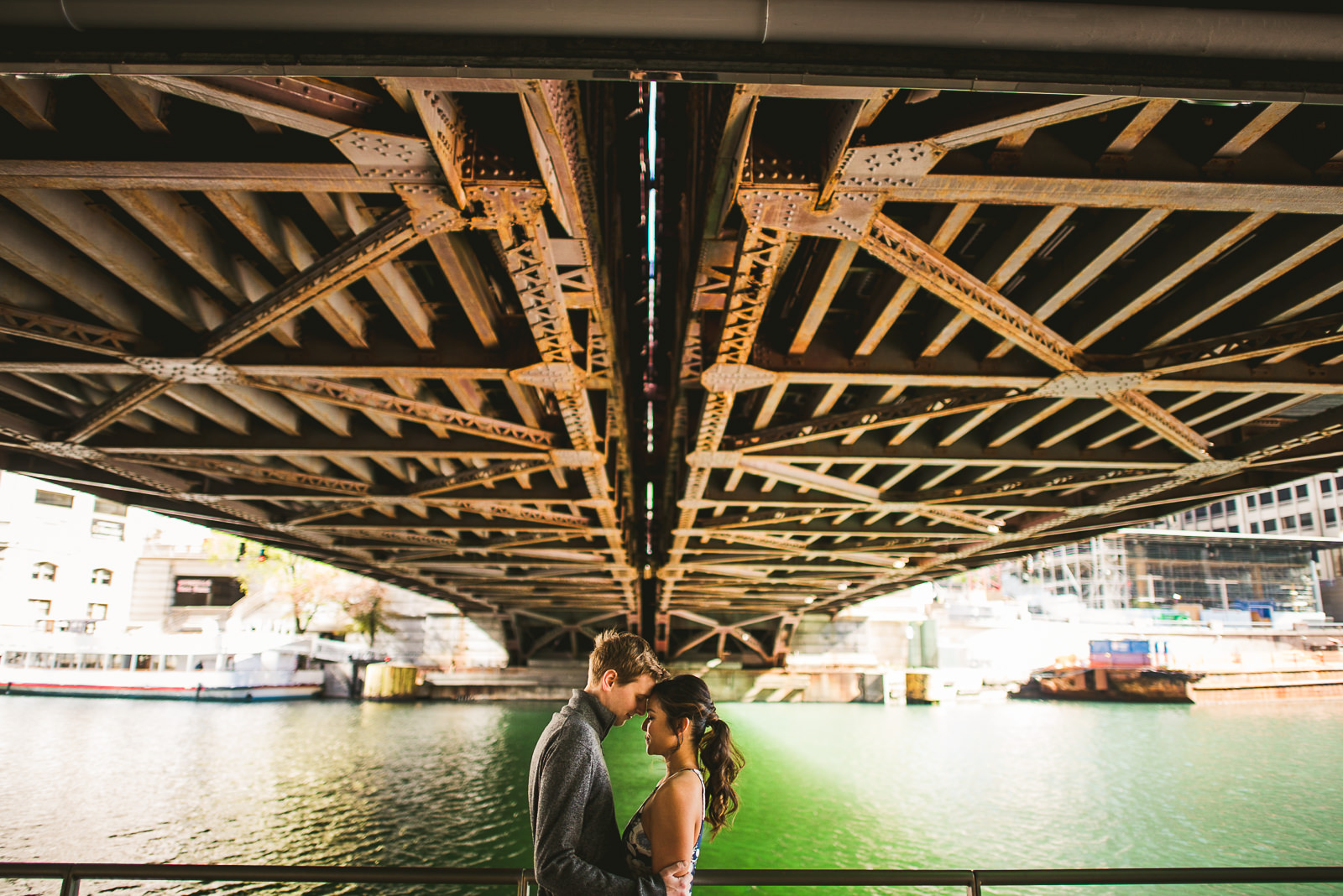 03 chicago riverwalk engagement photos - Downtown Chicago Engagement Session // Linhda + Jamie