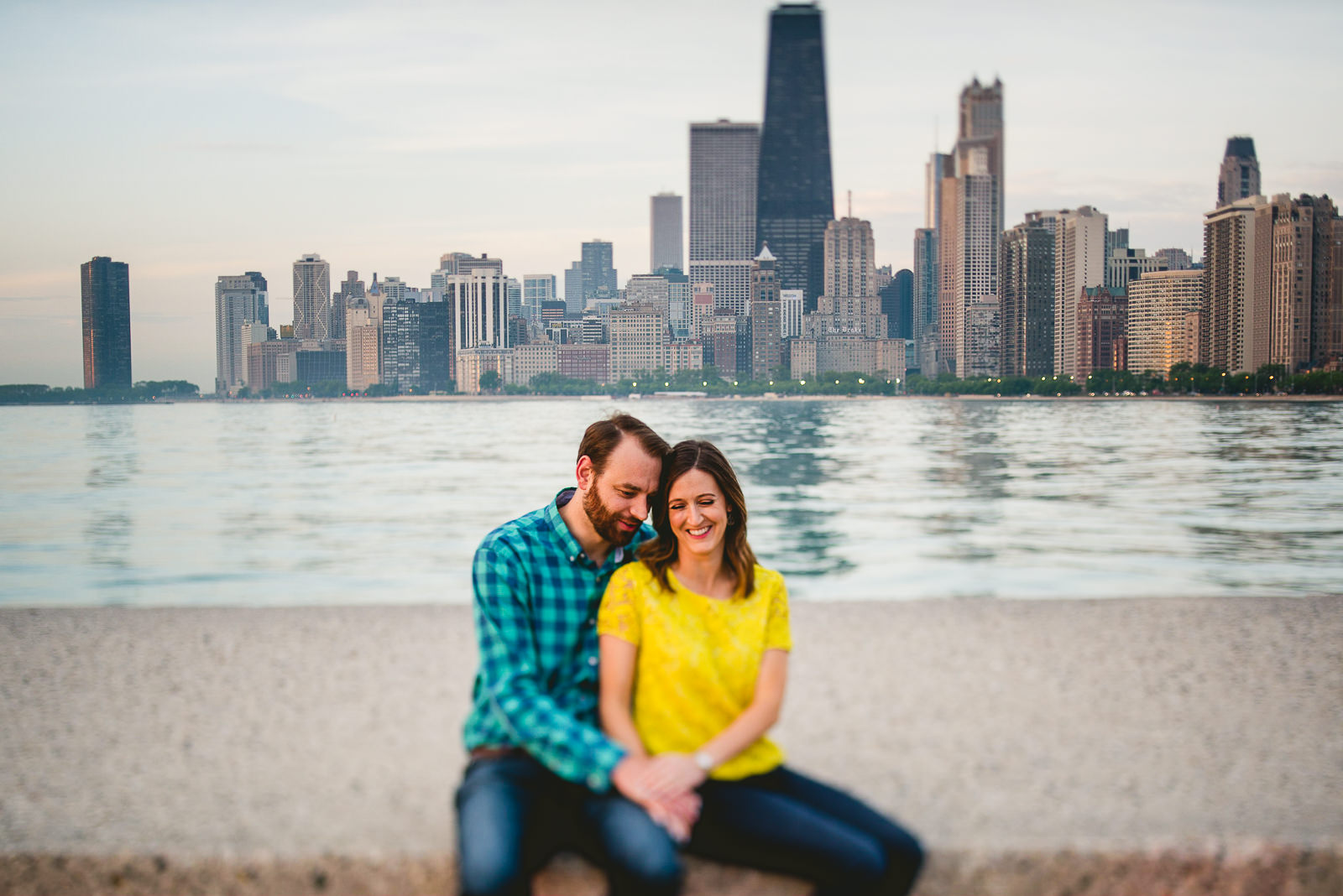 03 skyline engagmenet photos in chicago - Chicago Skyline Engagement Session Photographer // Rachel + Jared
