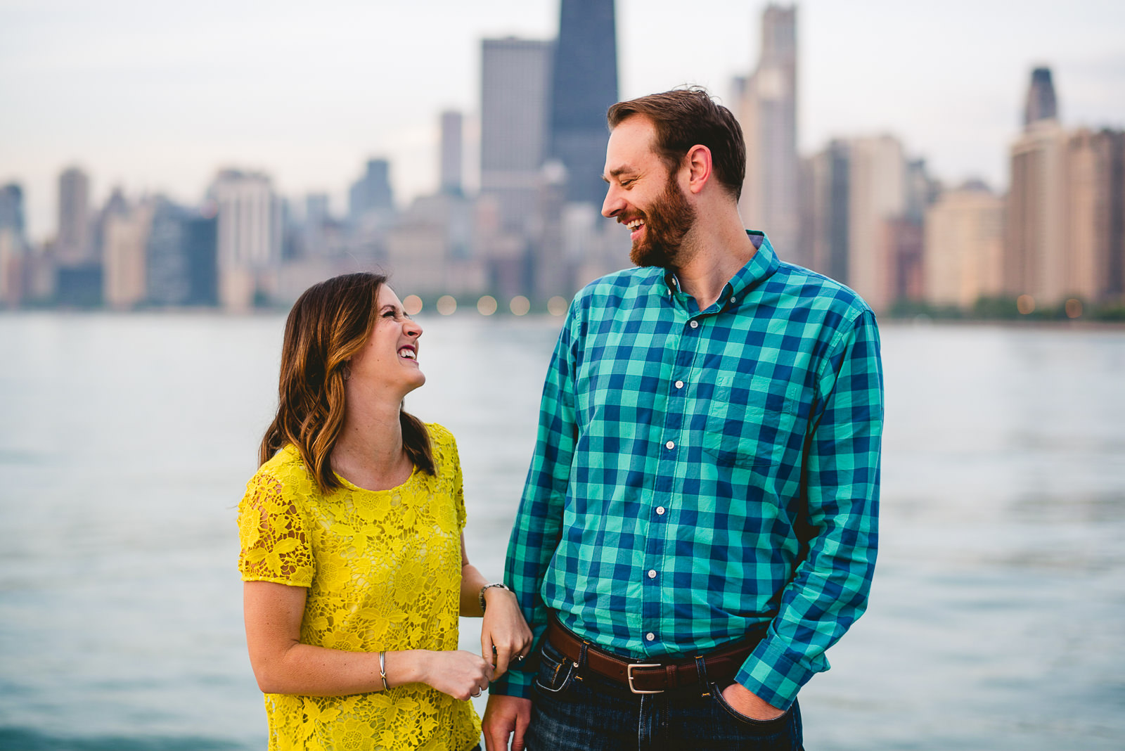 07 best fun engagement photos in chicago - Chicago Skyline Engagement Session Photographer // Rachel + Jared