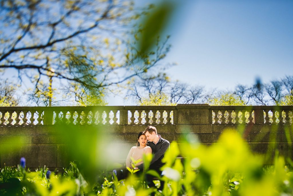 Downtown Chicago Engagement Session // Linhda + Jamie