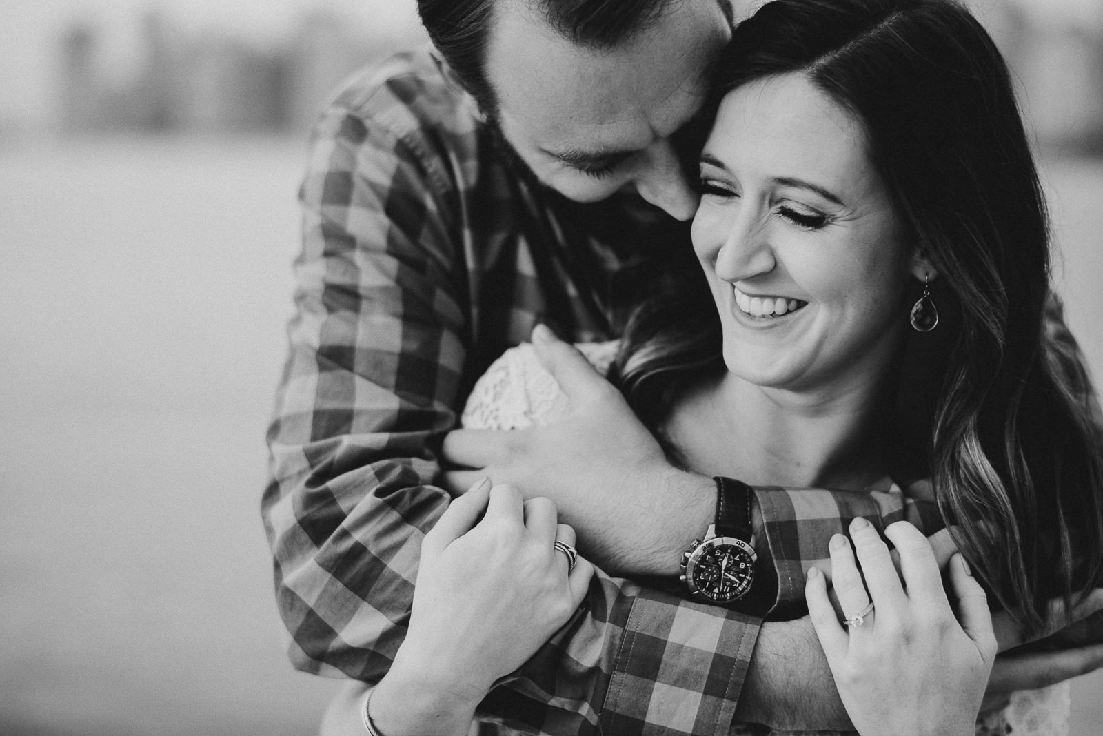 12 non cheesy engagement photos - Chicago Skyline Engagement Session Photographer // Rachel + Jared