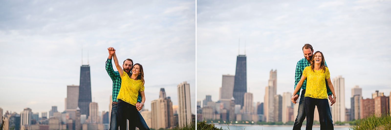 15 really authentic engagement photos in chicago - Chicago Skyline Engagement Session Photographer // Rachel + Jared