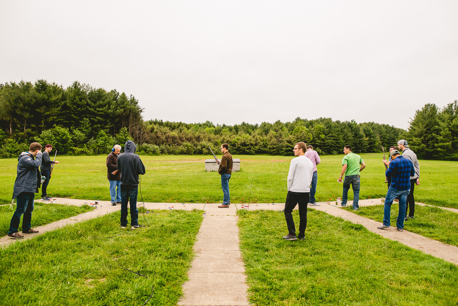 01 skeet shooting - Club of Hillbrook Wedding // Jenna + Ben