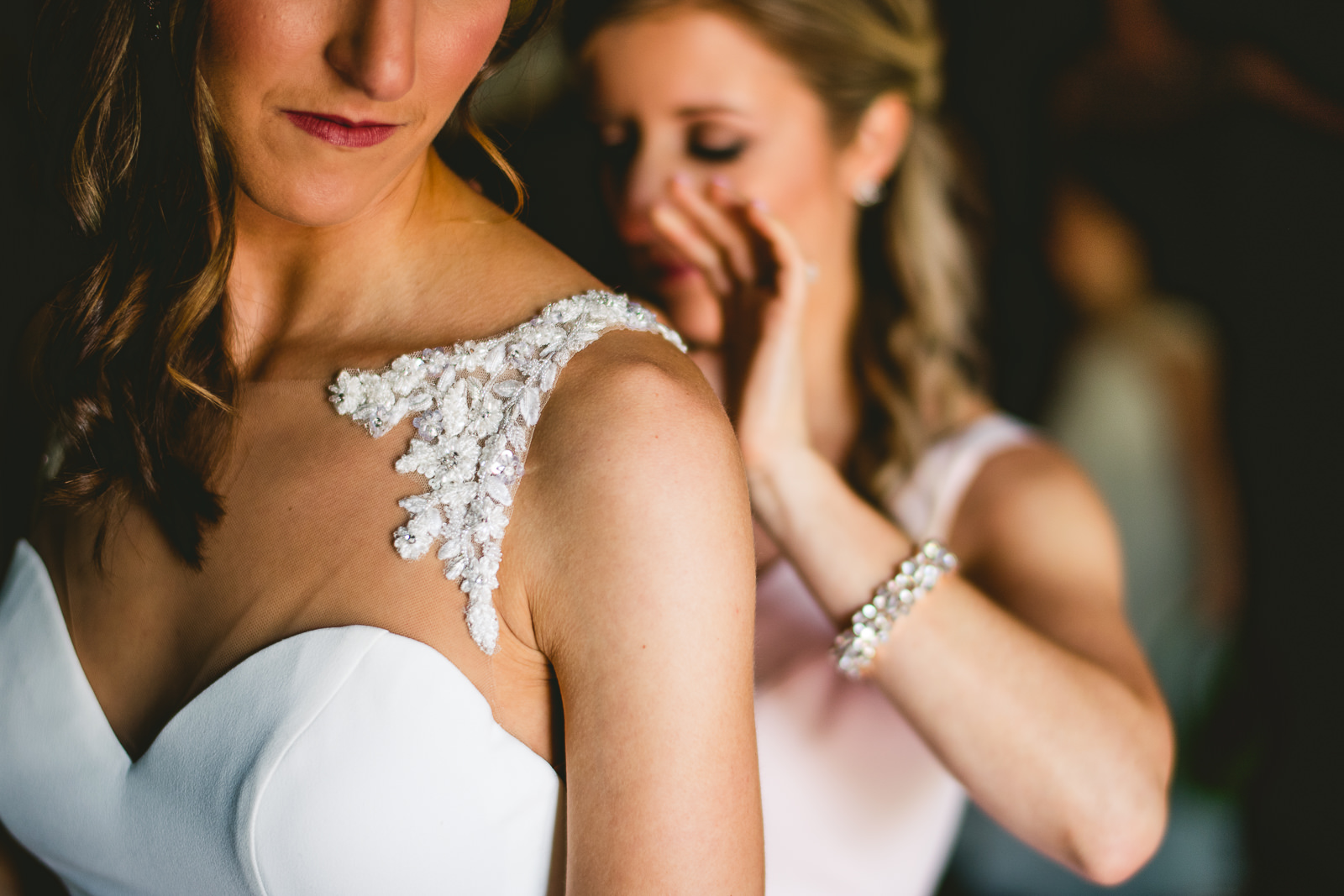 15 bride getting dressed at club of hillbrook - Club of Hillbrook Wedding // Jenna + Ben