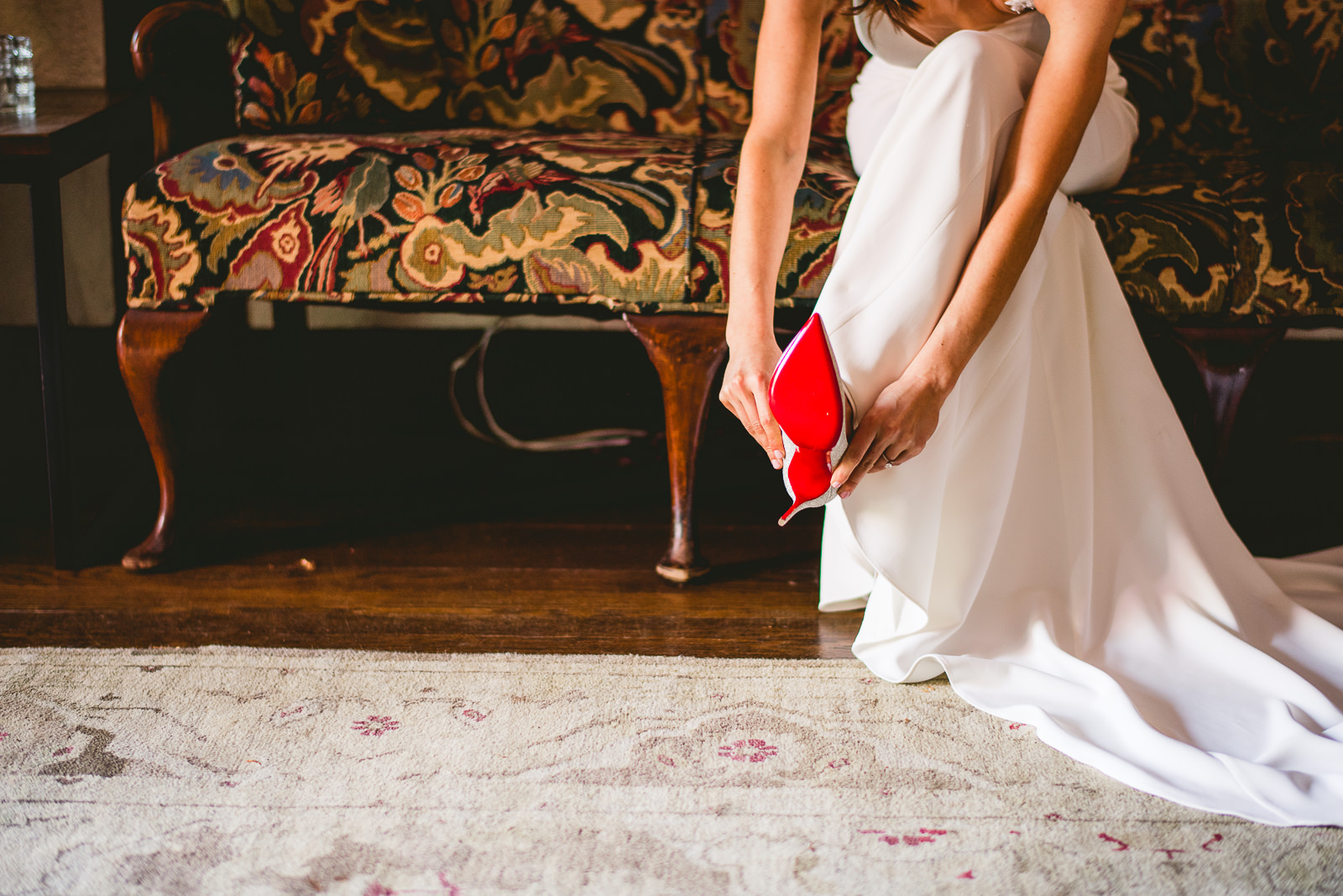 18 bride wearing louboutins - Club of Hillbrook Wedding // Jenna + Ben