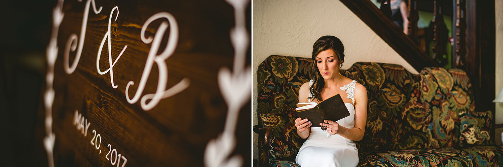 19 bride reading letter from groom - Club of Hillbrook Wedding // Jenna + Ben