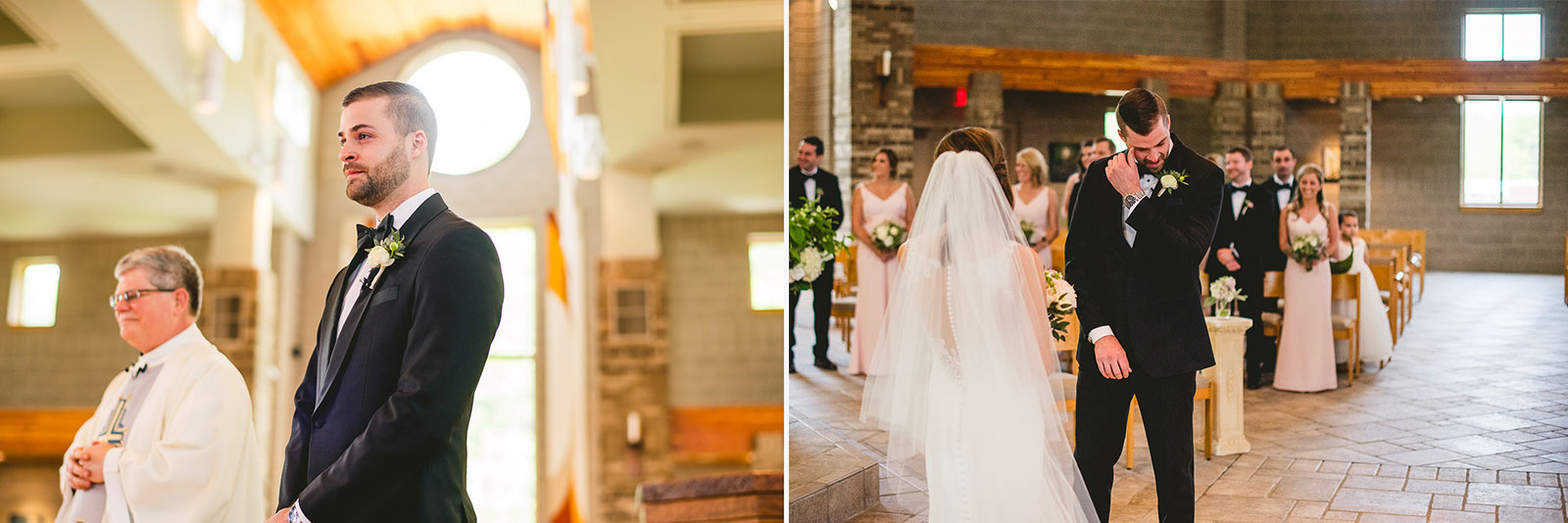 22 groom cries when he sees bride - Club of Hillbrook Wedding // Jenna + Ben