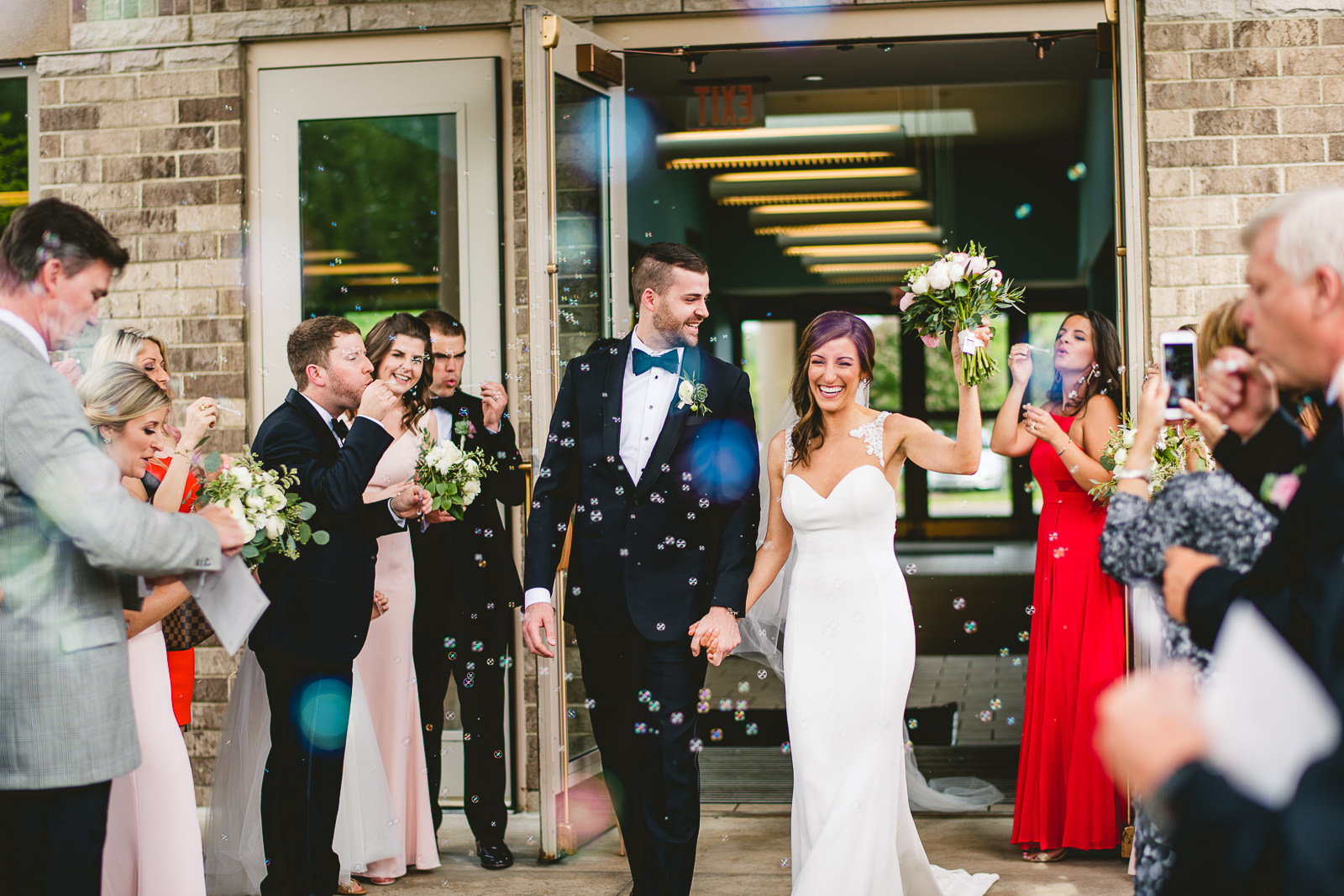 30 bride and groom bubble exit inspiration - Club of Hillbrook Wedding // Jenna + Ben