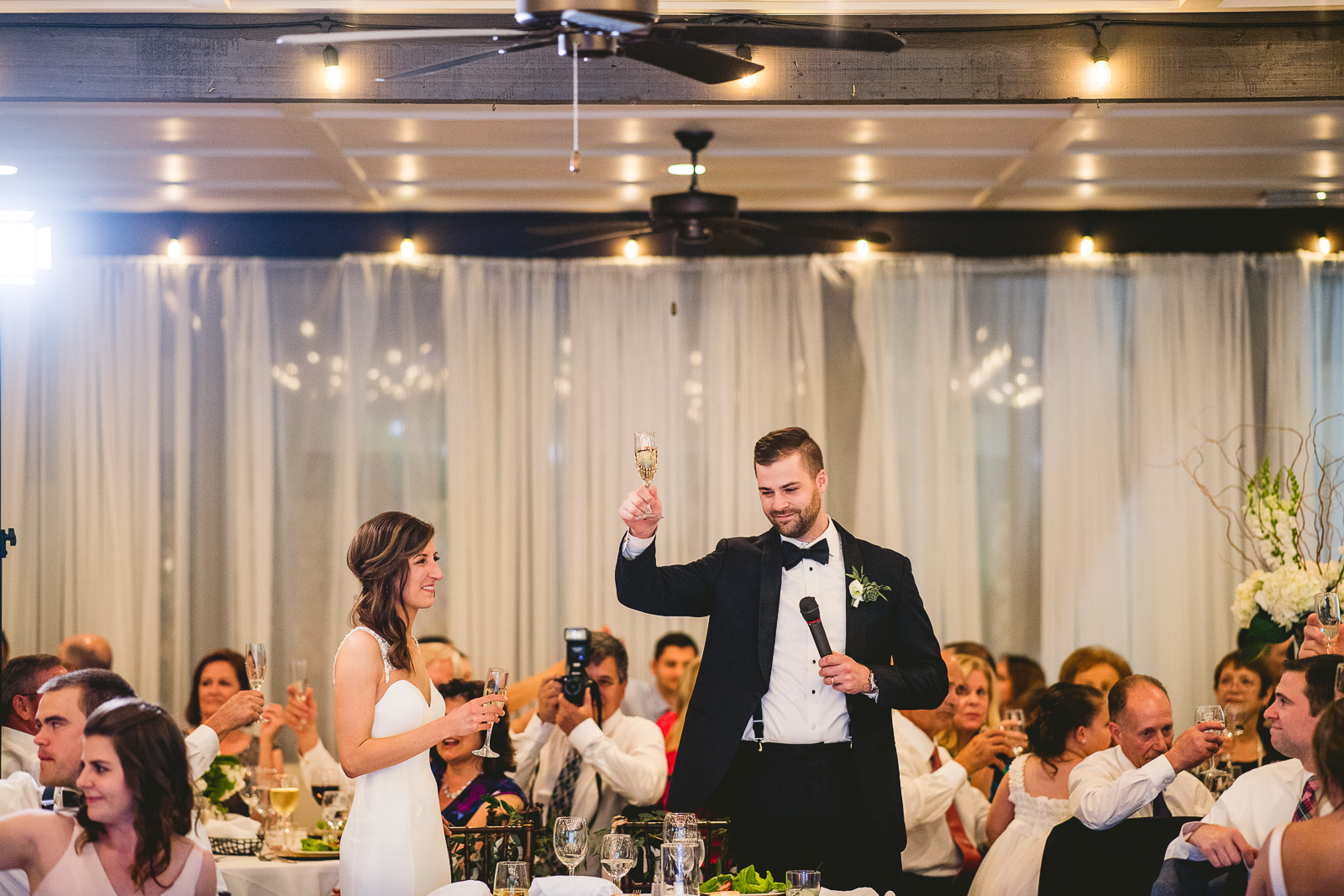 56 club of hillbrook groom toast - Club of Hillbrook Wedding // Jenna + Ben