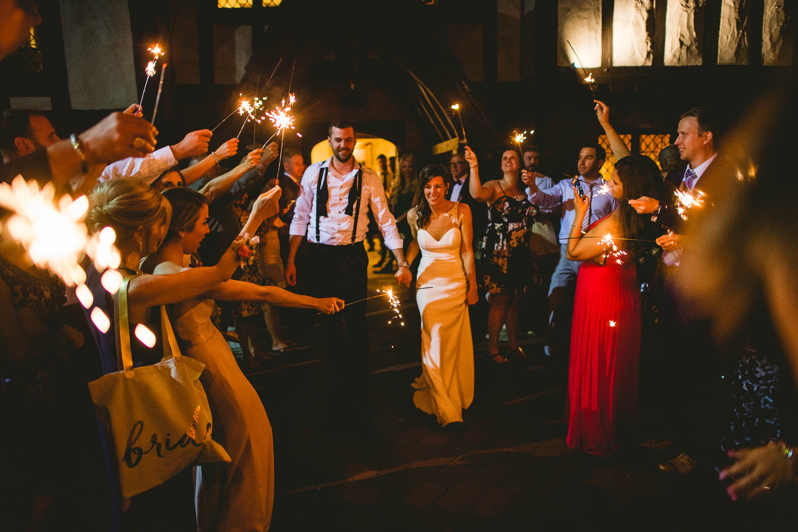 73 club of hillbrook sparkler exit clevland - Club of Hillbrook Wedding // Jenna + Ben